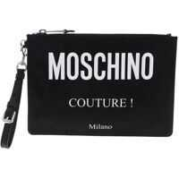 Genti de mana Moschino Black Clutch With Moschino Couture Milano Logo