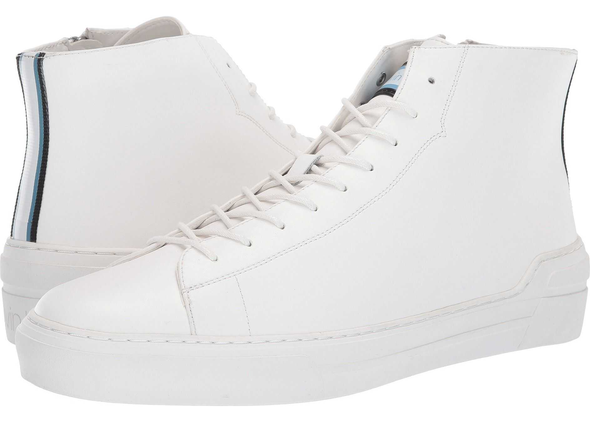 Calvin Klein Okey White Smooth Calf/Nylon Webbing Stripe