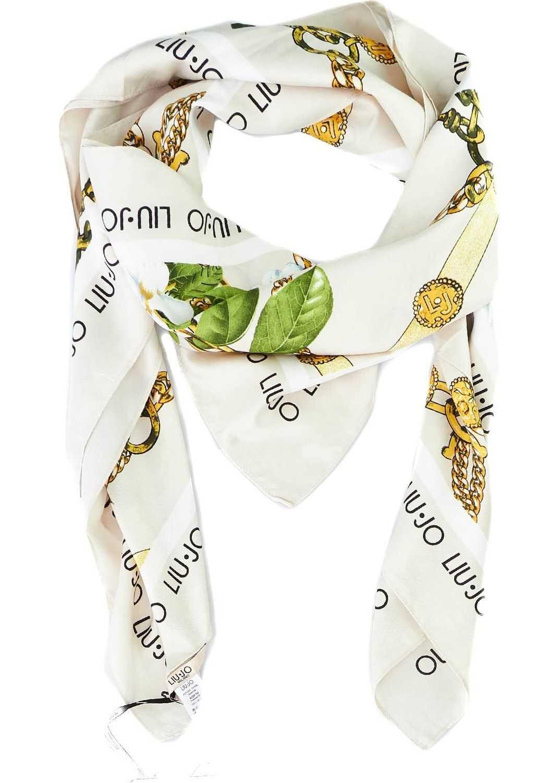 Liu Jo Printed foulard Beige