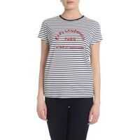 Tricouri Karl Lagerfeld Black And White Striped T-Shirt With Logo