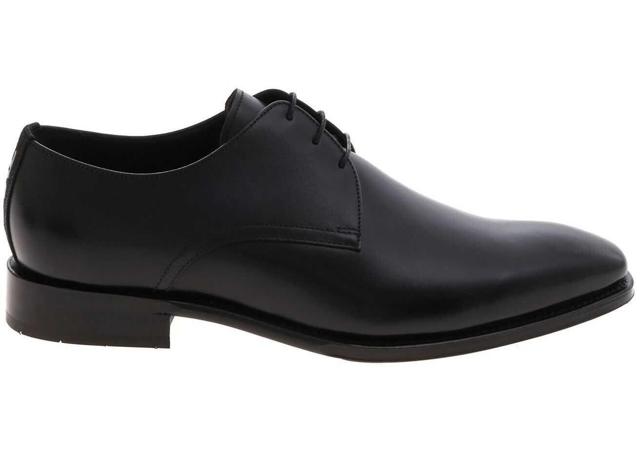 Karl Lagerfeld Mercury Derby Shoes In Black KL12620 000 Black imagine b-mall.ro