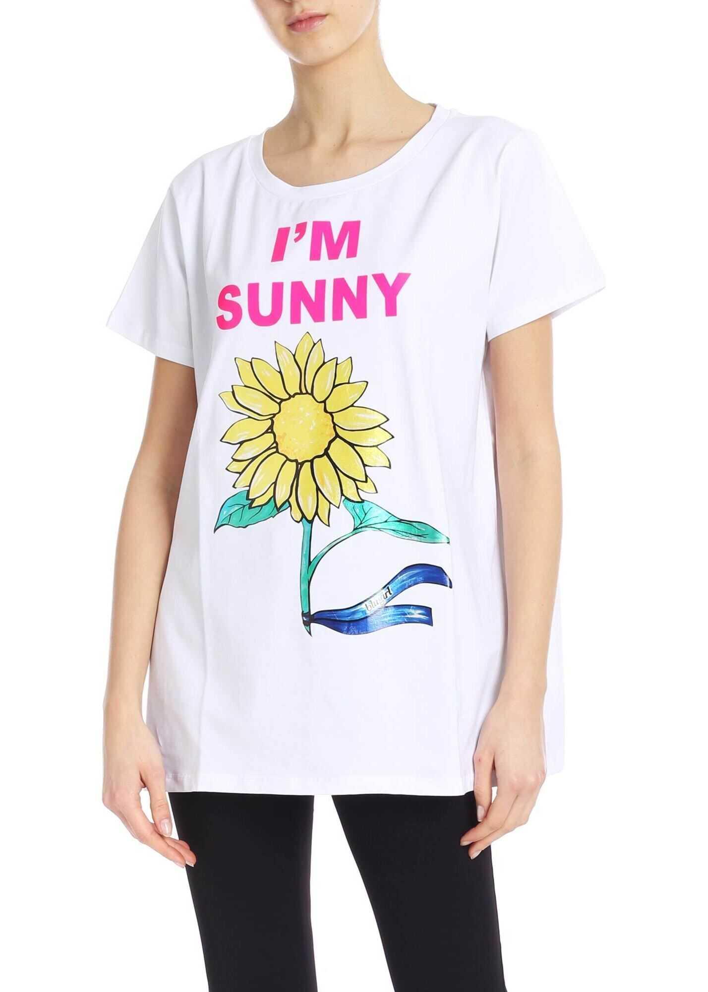 Blugirl I`m Sunny Oversized T-Shirt In White White