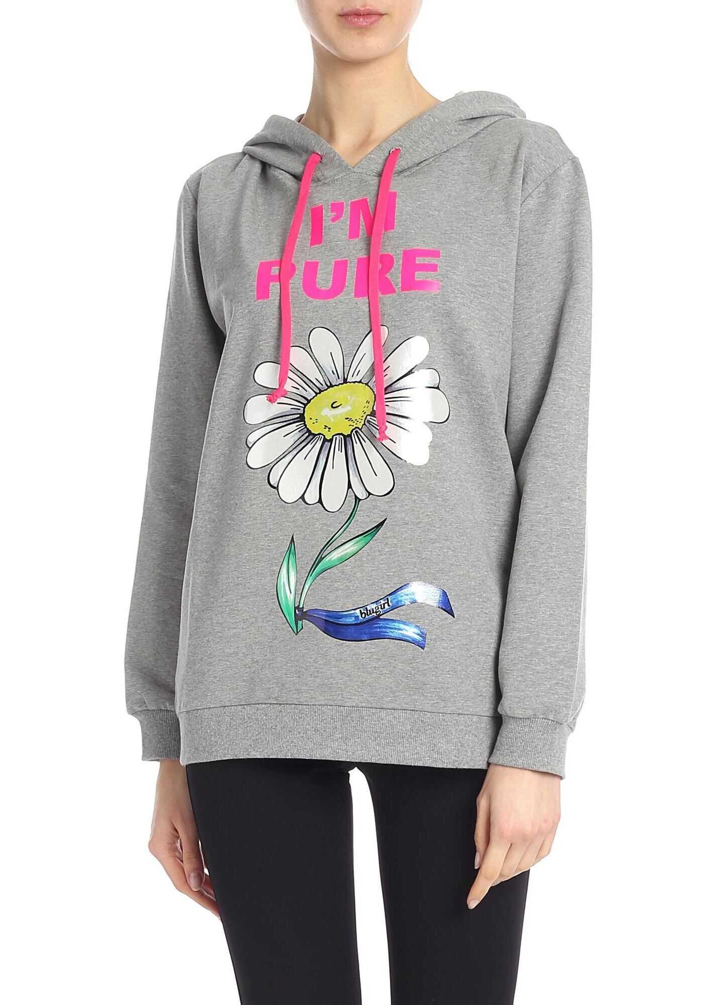 Blugirl I`m Pure Sweatshirt In Grey Grey