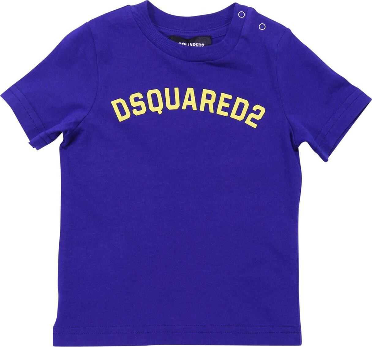 Blue T-Shirt With Dsquared2 Print