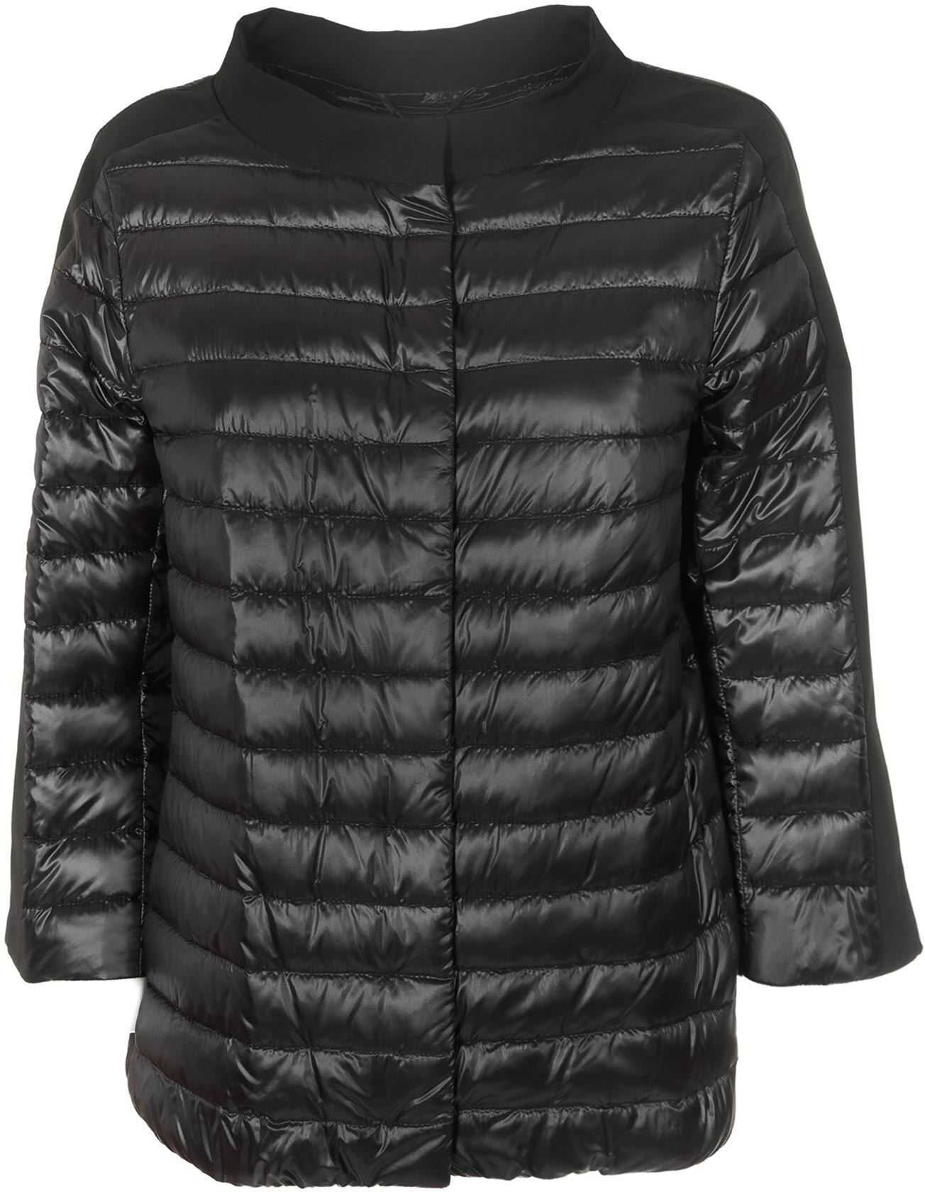 Herno Black Quilted Padded Jacket Black