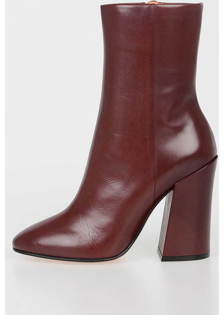 Dries Van Noten 10 CM Leather Booties RED