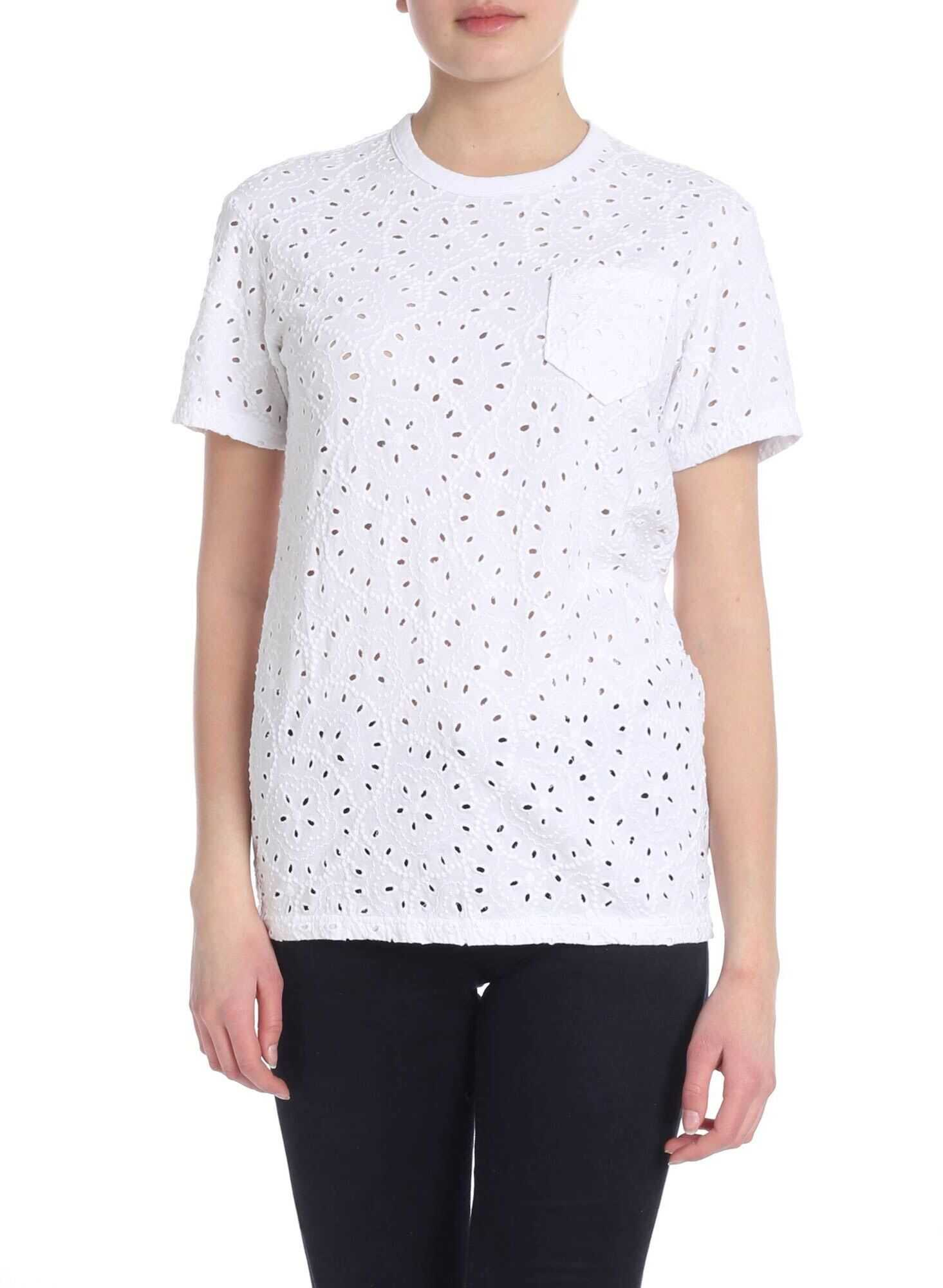 Openwork Cotton T-Shirt