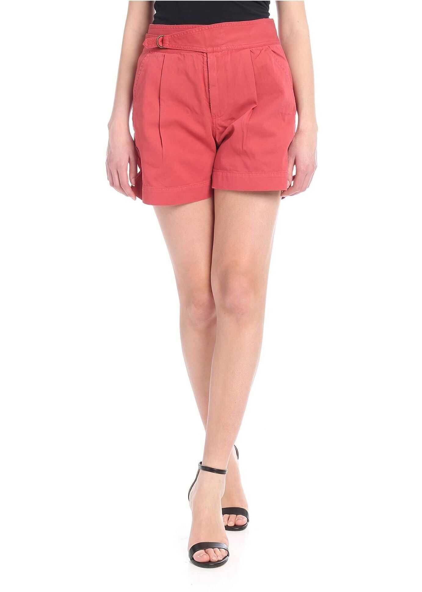 Shorts In Pure Red Cotton