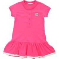 Rochii casual Bright Pink Stretch Cotton Dress Fete