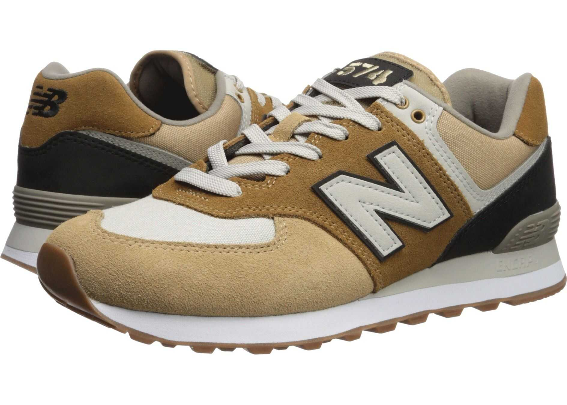 New Balance Classics 574v2-USA Hemp/Black