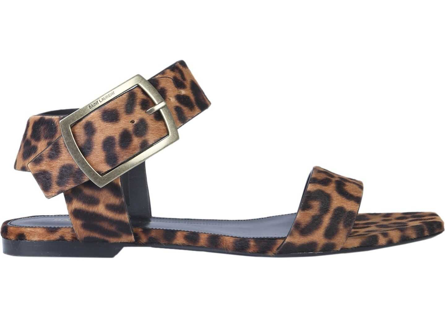 Saint Laurent Buckle Sandals MULTICOLOUR