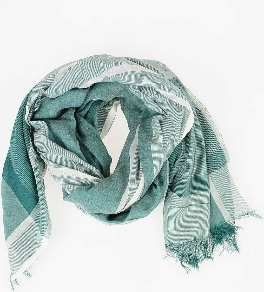 CORNELIANI TREND Cotton Scarf GREEN