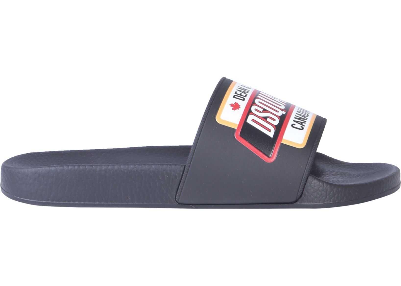 DSQUARED2 Slide Sandals BLACK