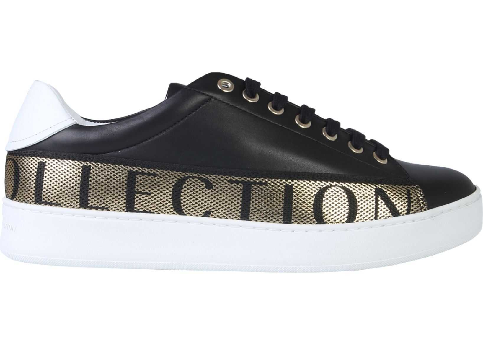 Versace Collection Sneakers With Logo BLACK