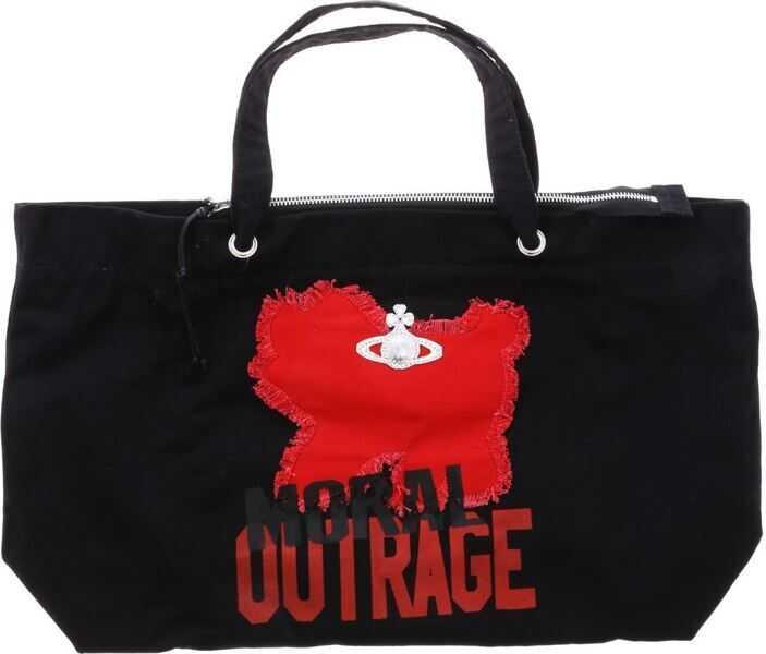 Genti de mana Dama Vivienne Westwood Anglomania Black Westminster Moral Outrage Bag