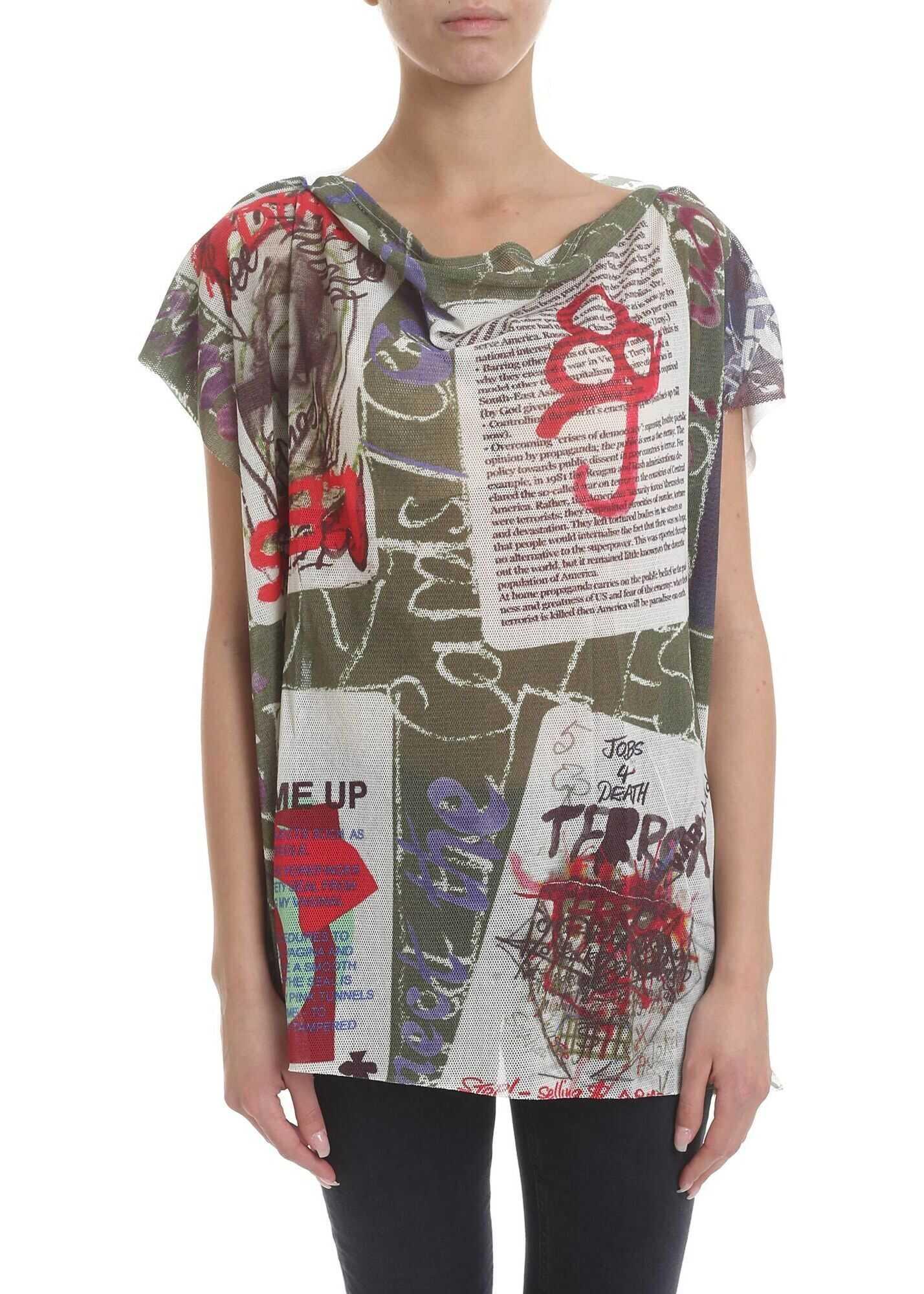 Vivienne Westwood Cotton Blend T-Shirt In Multicolor Multi