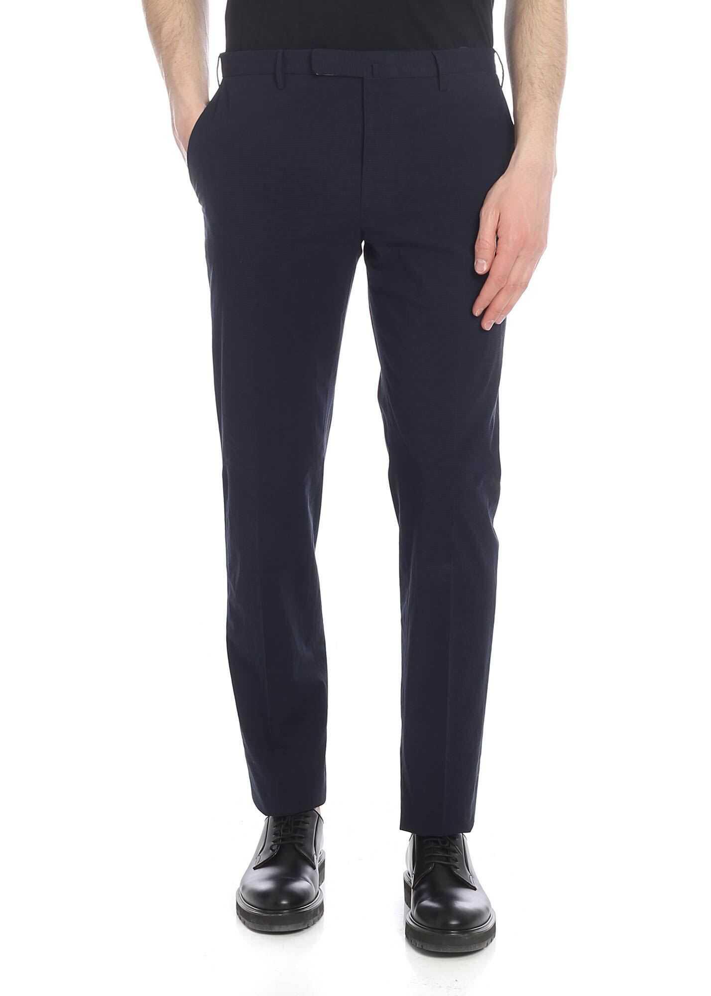 Incotex Blue Trousers Blue imagine
