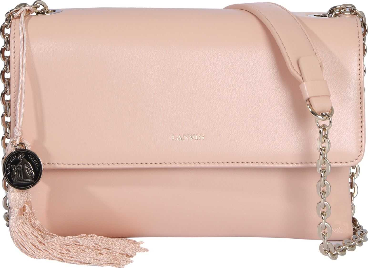 Lanvin Small Sugar Shoulder Bag NUDE