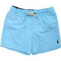 Pantaloni scurti Swimsuit In Light Blue With Logo Embroidery Baieti