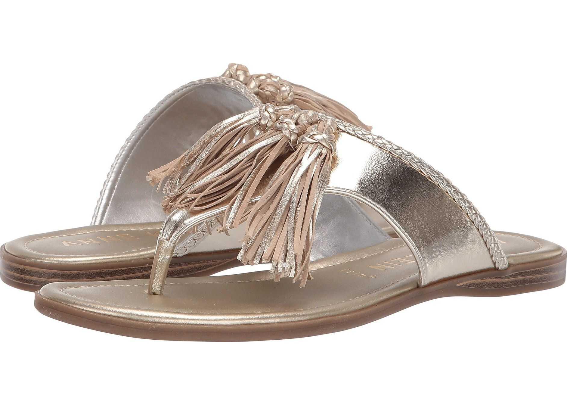 Anne Klein Adrienna Tassel Sandal Light Gold