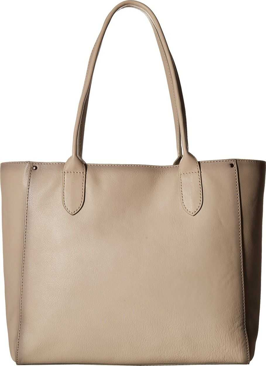 Frye Olivia East/West Tote Off-White Soft Tumbled Full Grain