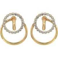 Cercei Interlock Ring Casted Post Earrings Femei