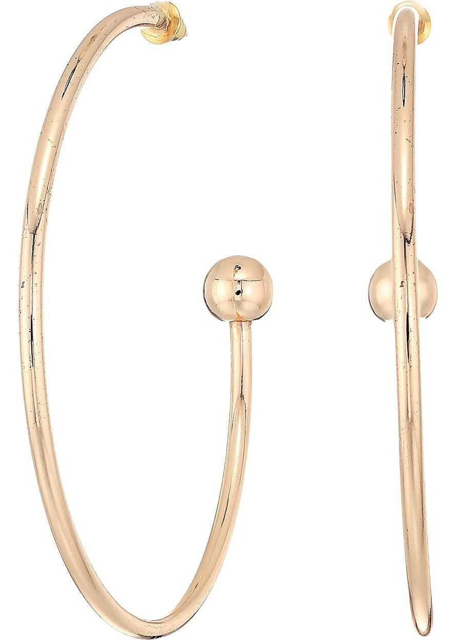 Steve Madden Solid Open Hoop Post Earrings Rose Gold