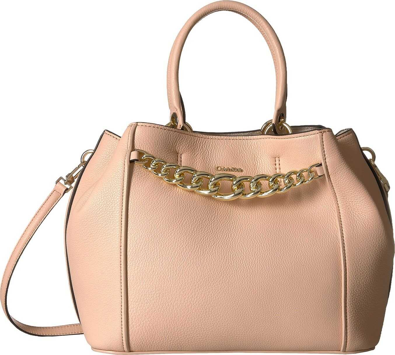 Calvin Klein Pebble Leather Satchel Intimate