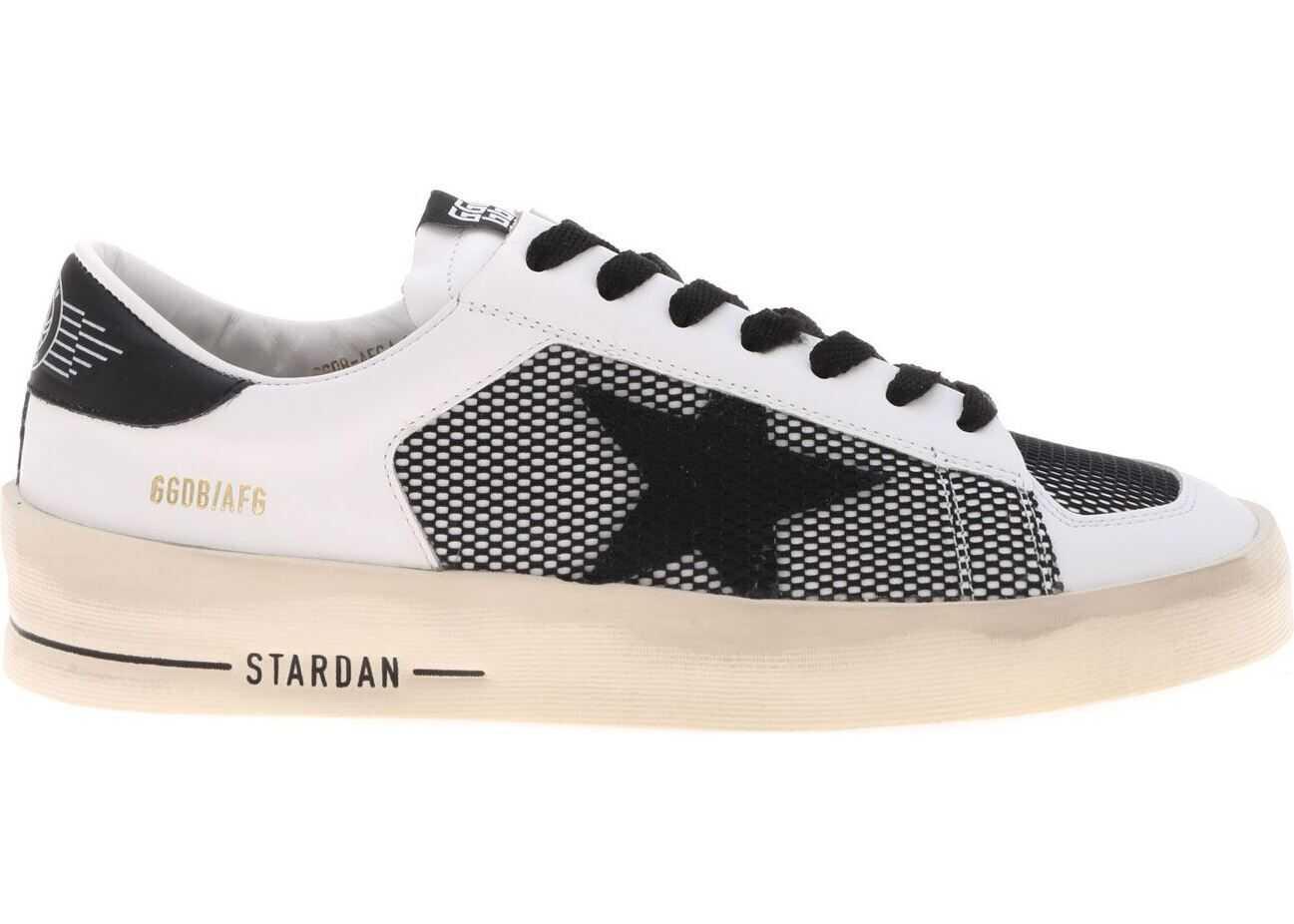 Golden Goose Stardan Sneakers In Black And White White