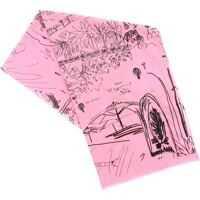 Esarfe Journal Print Scarf In Pink Femei