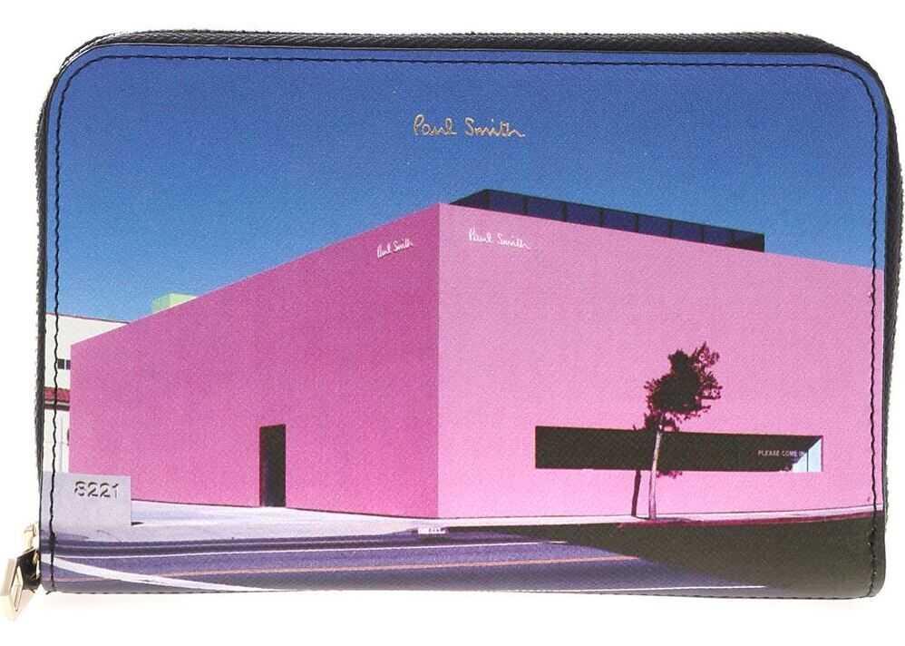 Paul Smith La Shop Printed Wallet In Black Black