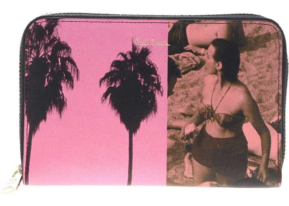 Paul Smith La Shop Medium Wallet Pink