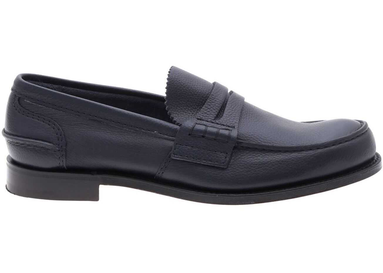 Church's Pembrey Leather Loafers In Blue Blue