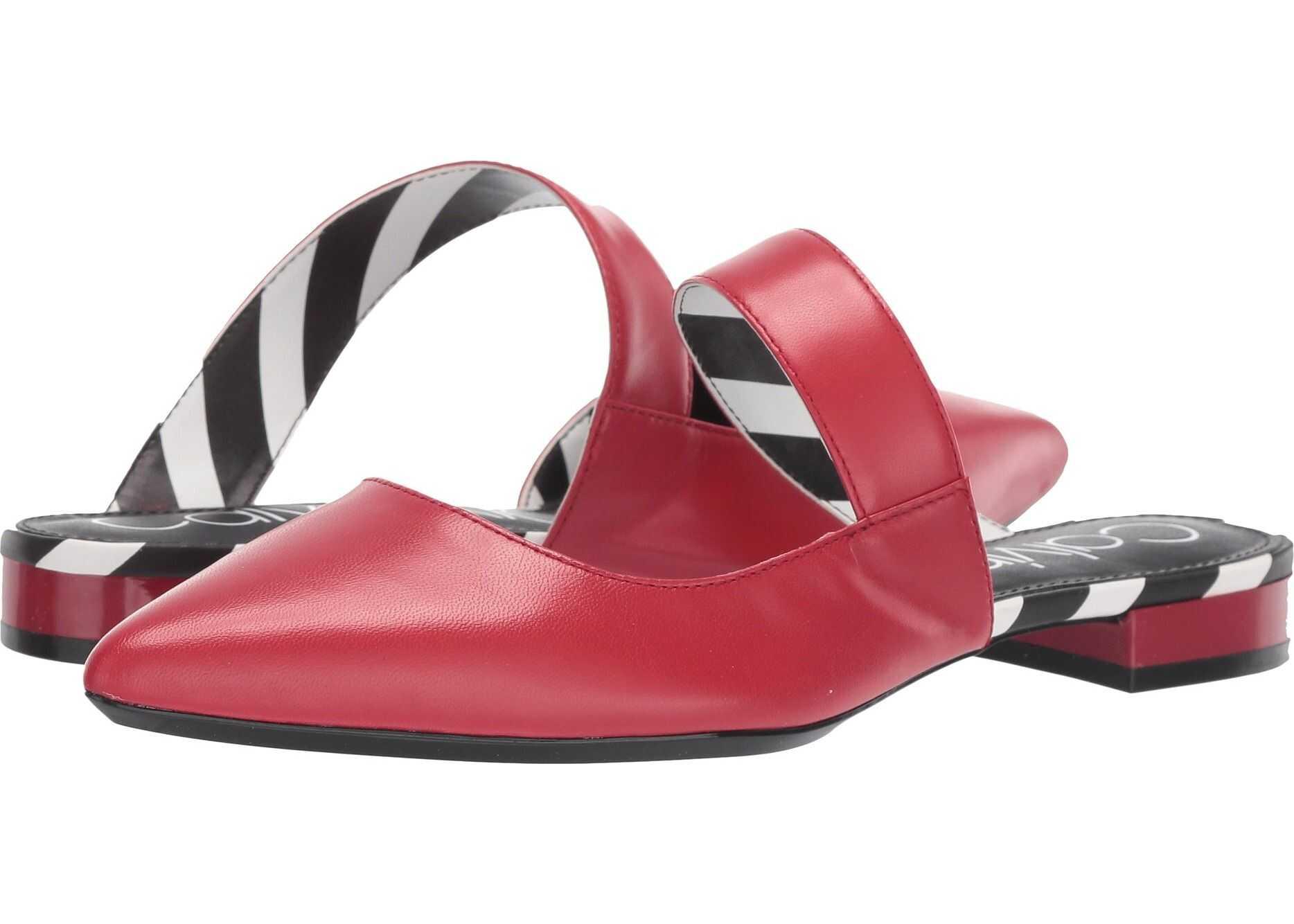 Calvin Klein Arelys Scarlet Leather Stripes