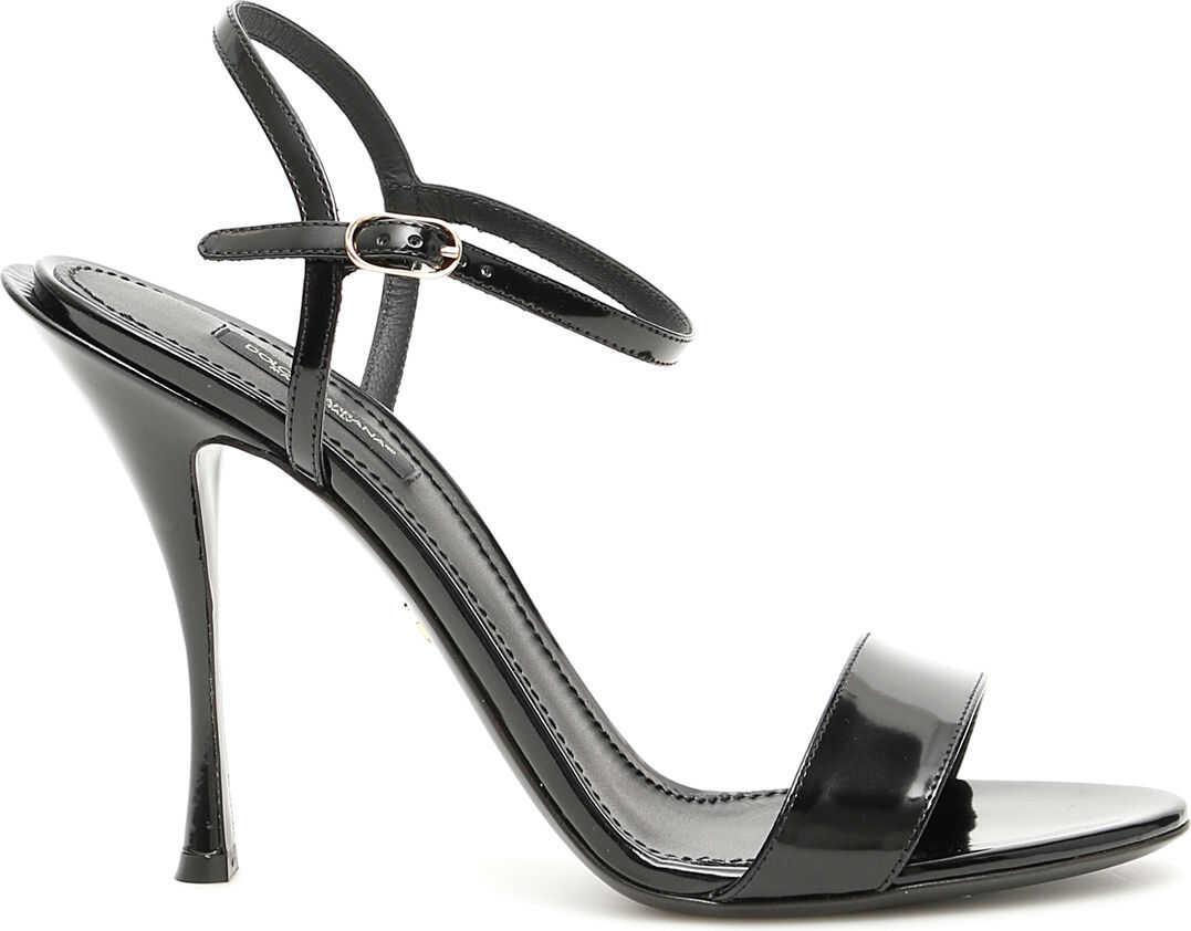 Dolce & Gabbana Keira Calfskin Sandals NERO