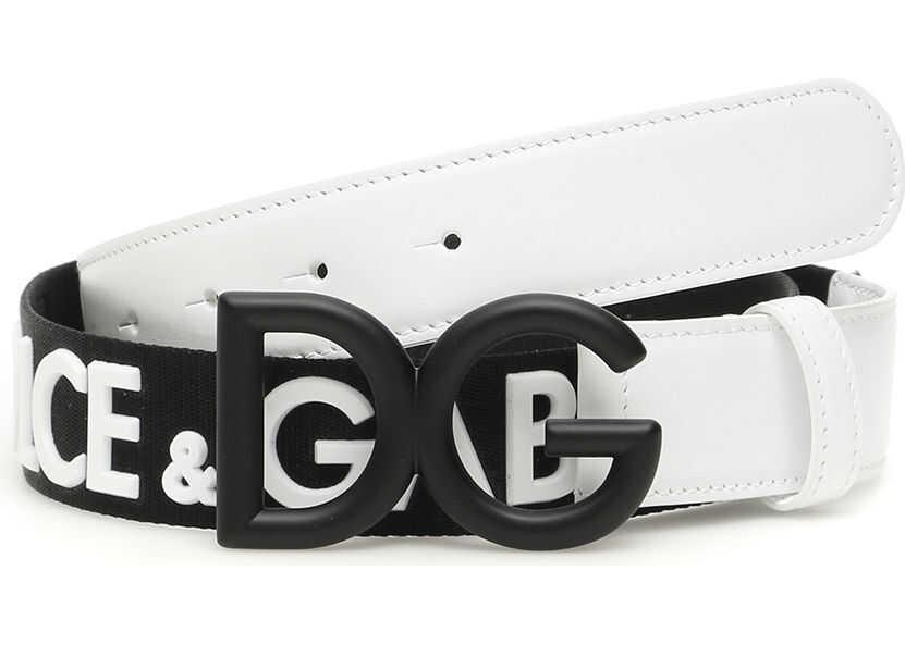 Dolce & Gabbana Ribbon Belt With Logo NERO BIANCO