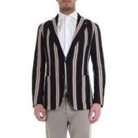 Sacouri office Striped Jacket In Dark Blue Barbati