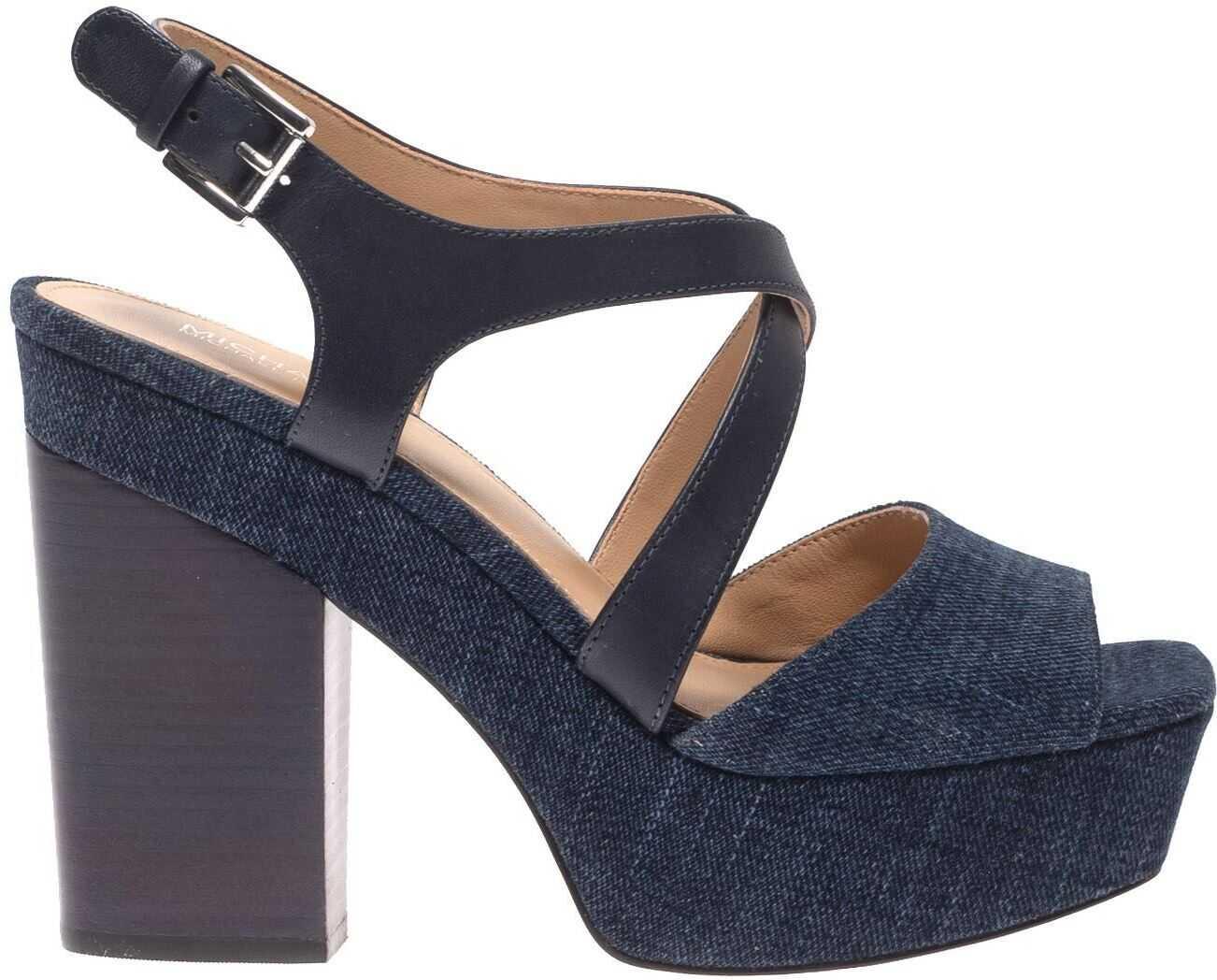 Michael Kors Abbott Sandals In Blue Blue