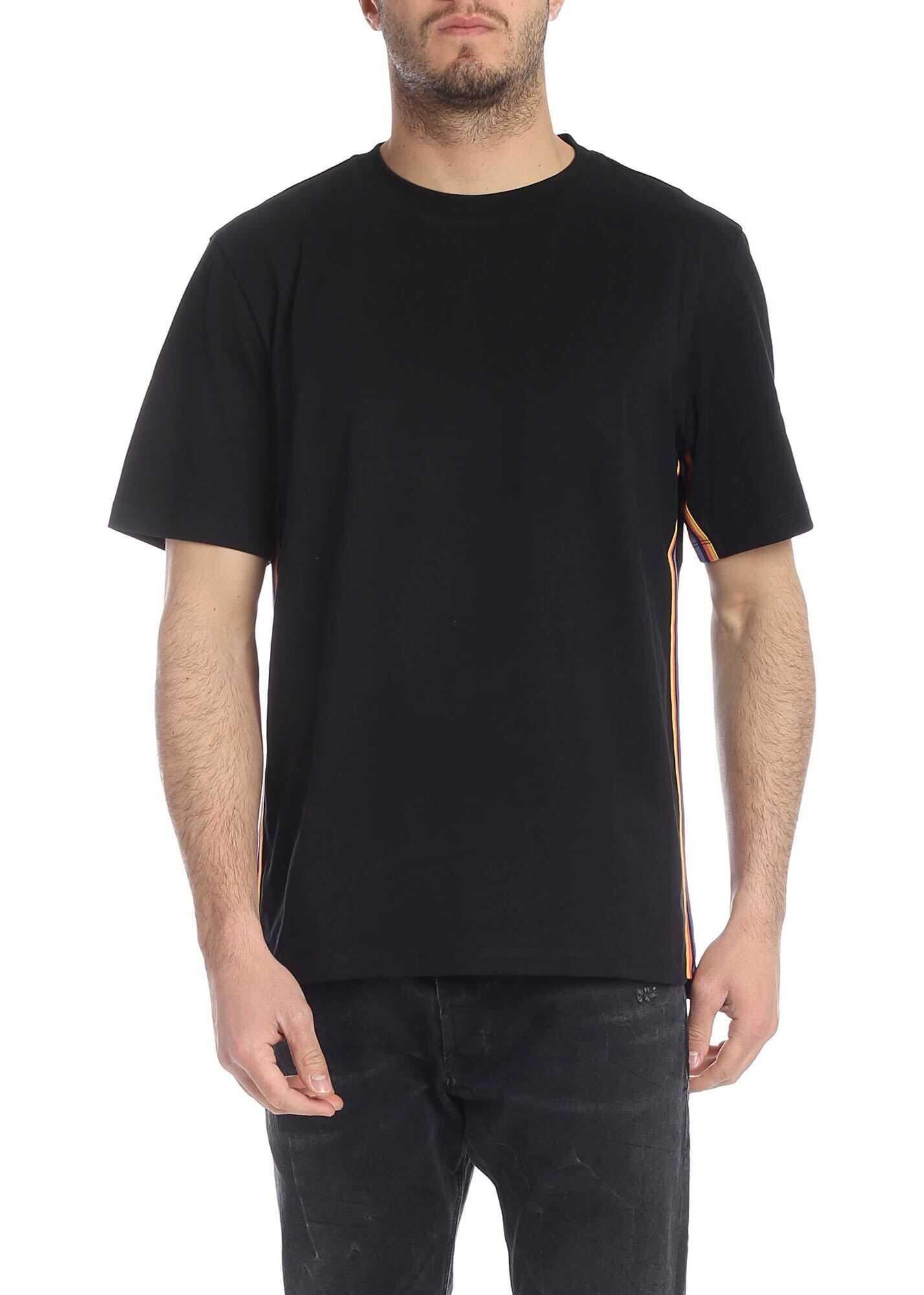 Paul Smith Artist Stripe T-Shirt In Black Black