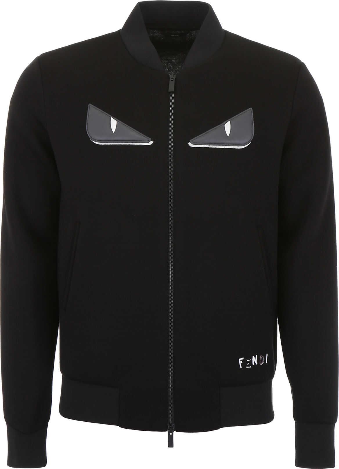 Fendi Shadow Embroidery Jacket NERO