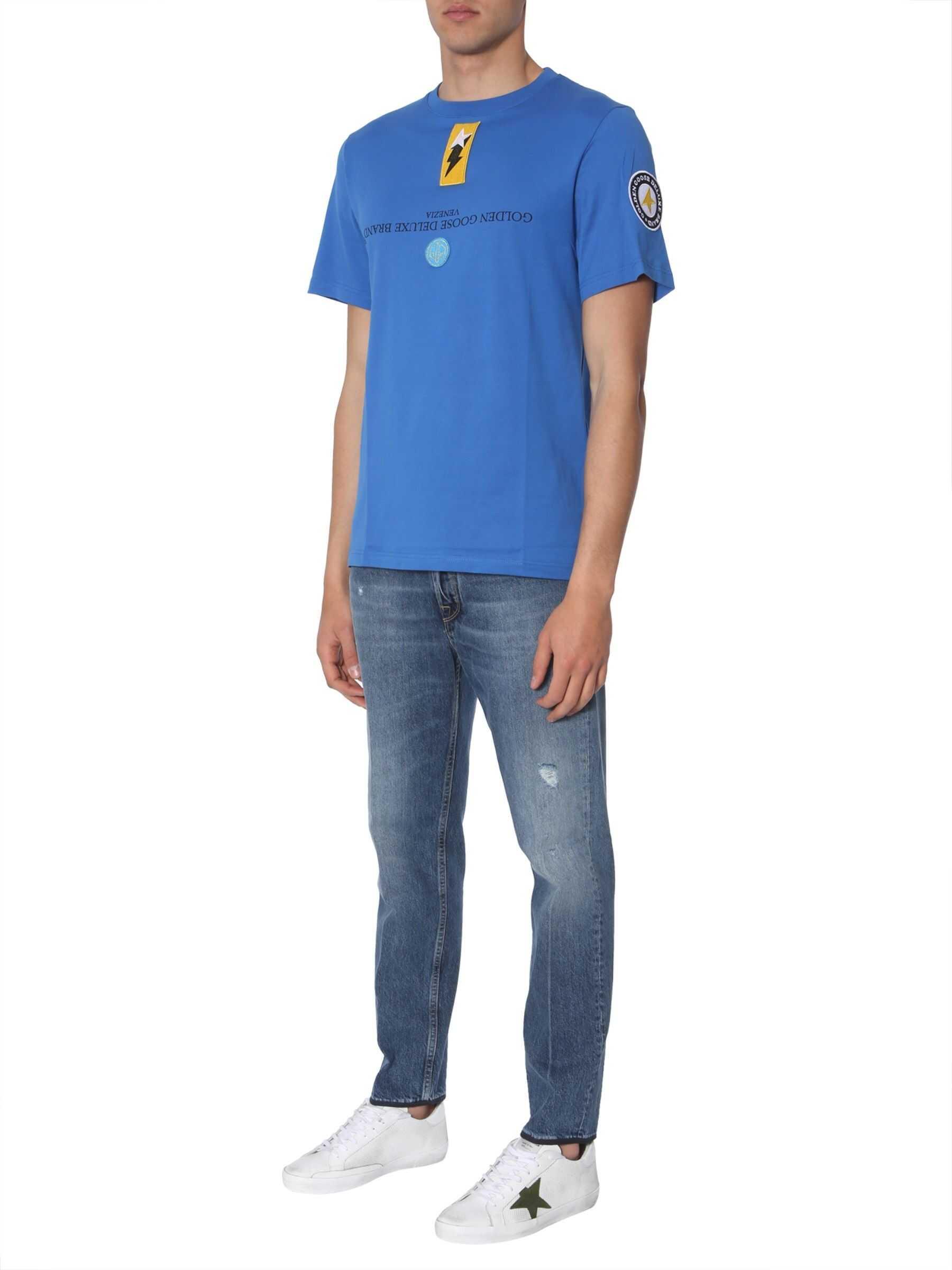Golden Goose Golden T-Shirt BLUE