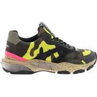 Sneakers Bounce Sneakers In Army Green And Yellow Barbati