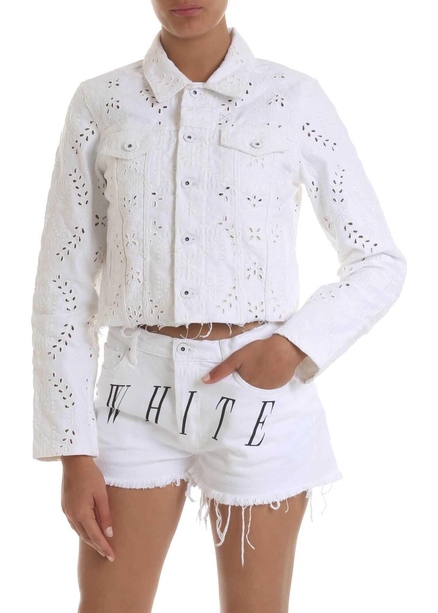 Off-White Jacket In White Denim White
