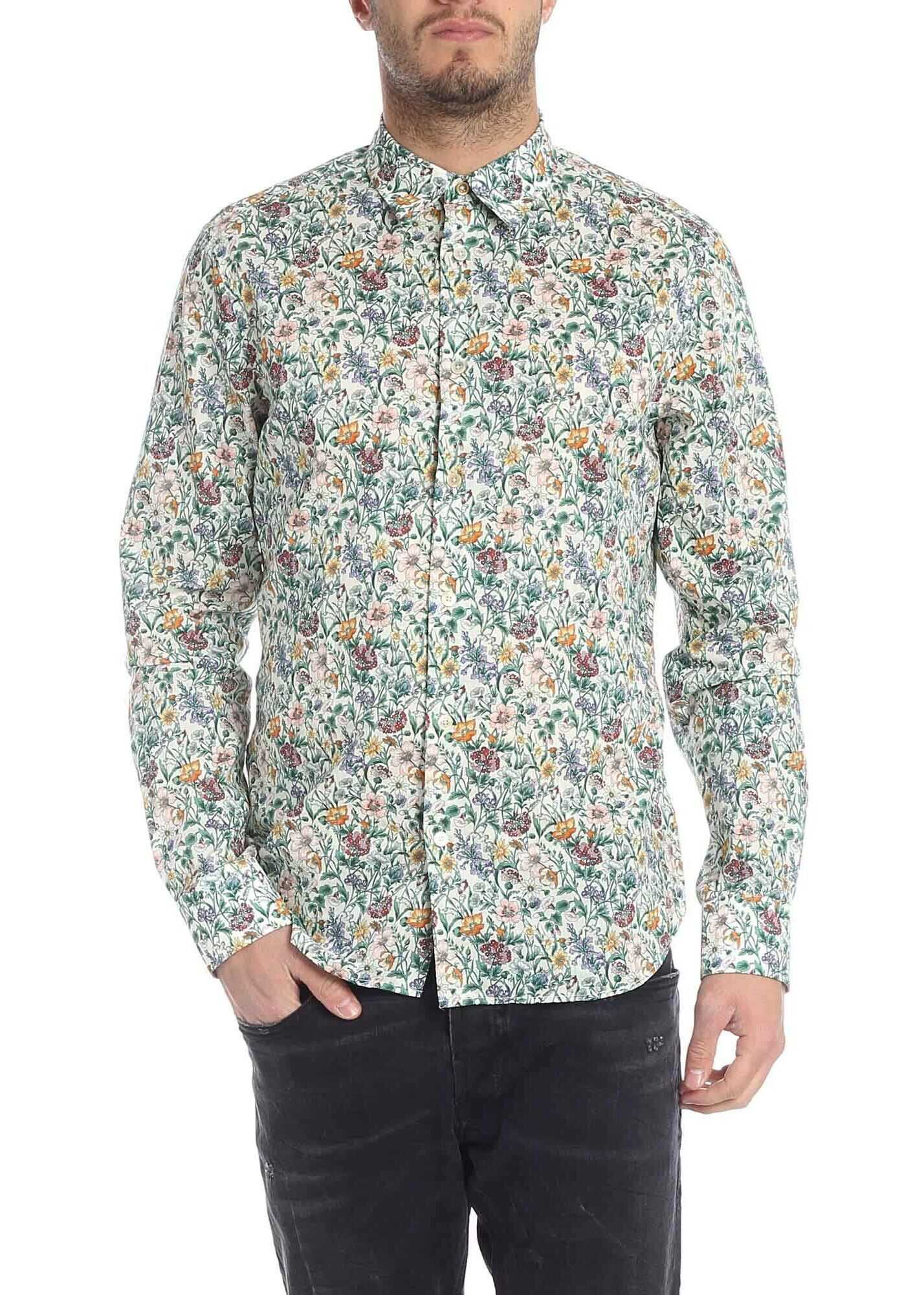 Paul Smith Liberty Spring Shirt In Multicolor Multi