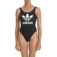 Costume de baie intregi Adidas Originals Trefoil Swimsuit In Black Femei