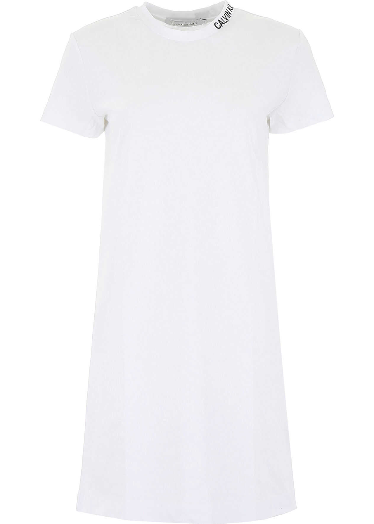 Calvin Klein Jeans T-Shirt With Embroidered Logo WHITE