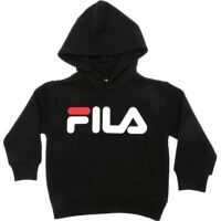 Bluze Cotton Sweatshirt In Black With Fila Print Baieti