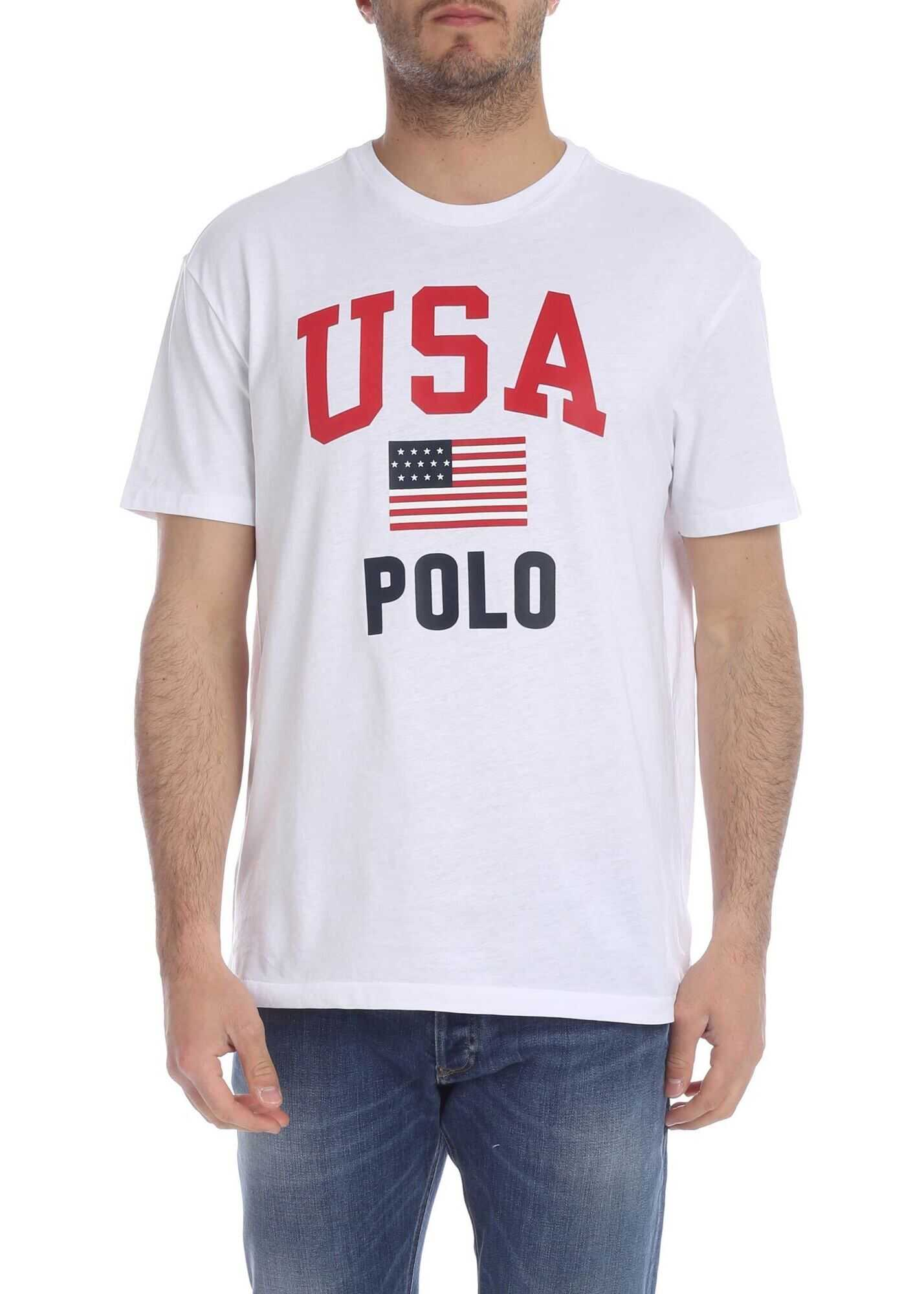 Usa Polo T-Shirt In White