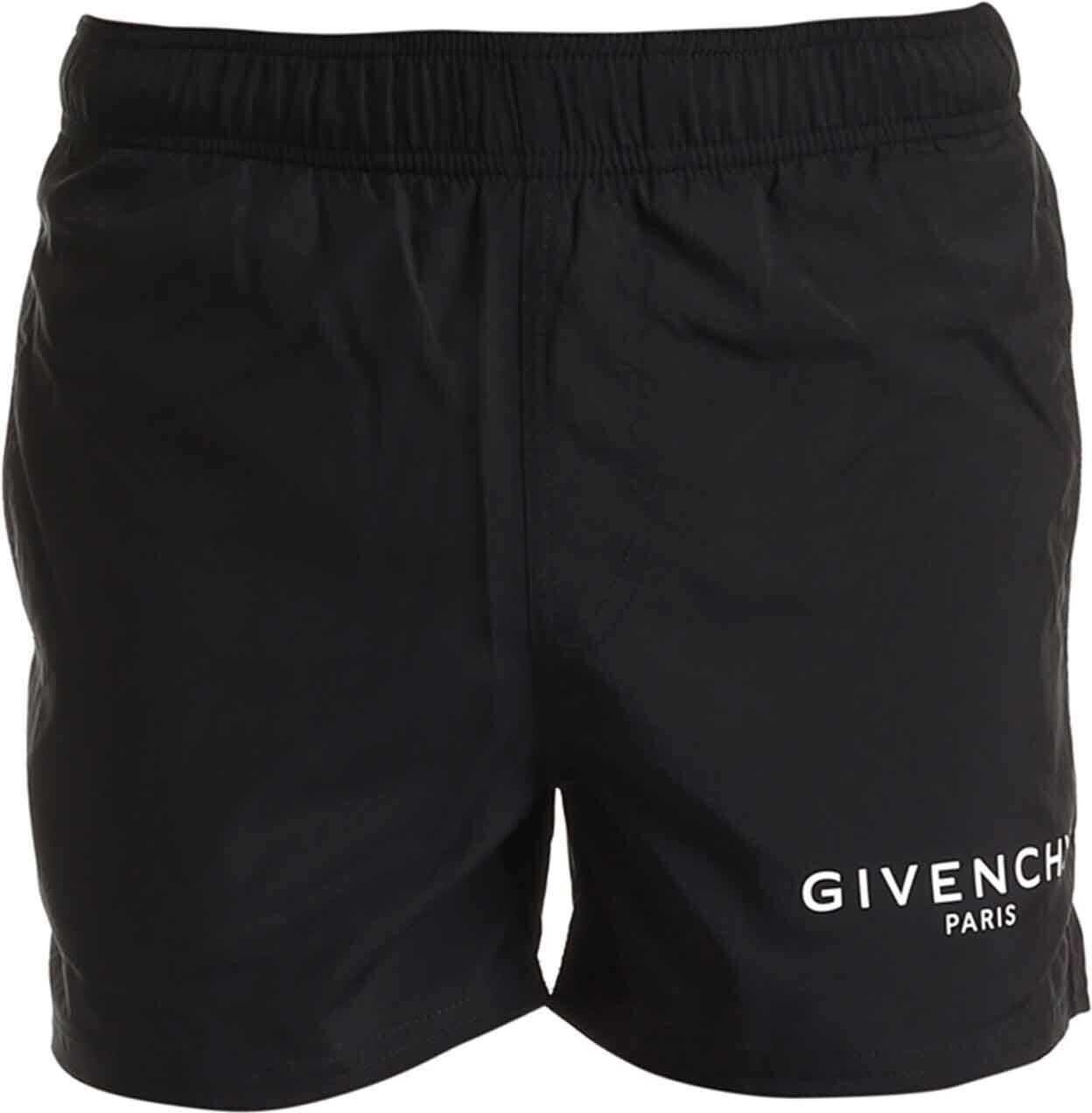 Givenchy Givenchy Printed Swim Short In Black Black imagine