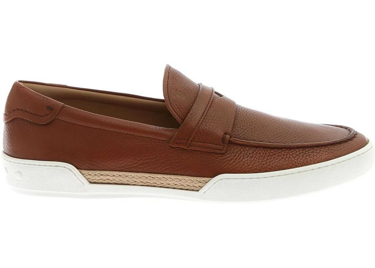 TOD'S Loafers In Brown With Rope Detail XXM48B0BC30VYPS013 Brown imagine b-mall.ro